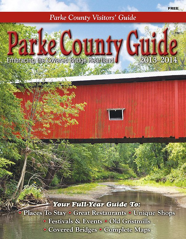 Covered Bridge Festival Indiana Map.Get Your Copy Of The 2012 2013 Parke County Guide As A Pdf Download