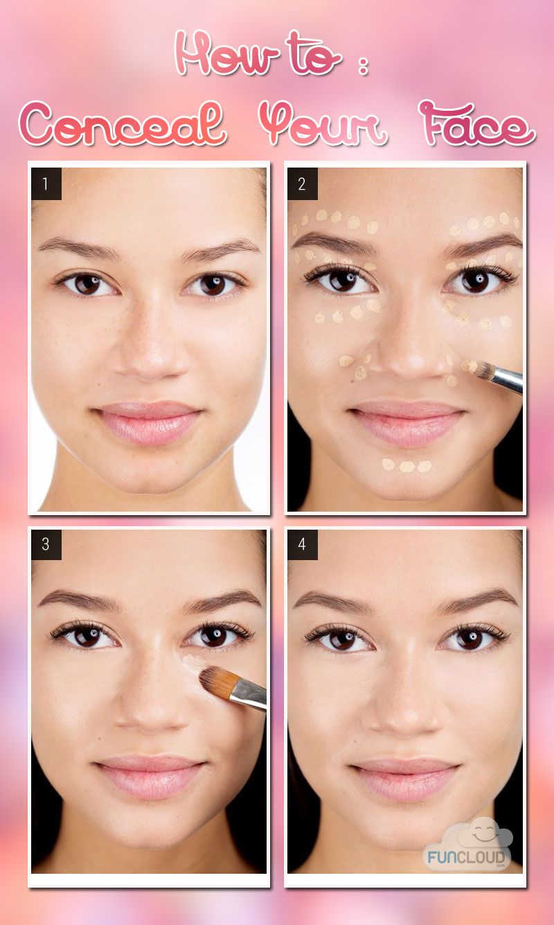 How to Conceal Your Face Makeup, Skin makeup, Concealer map