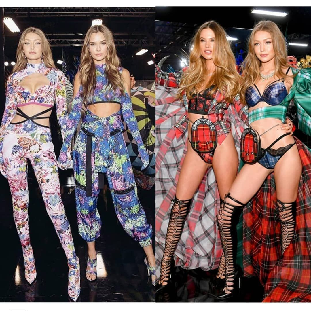 fc260ef7066 Gigi Hadid with Behati Prinsloo and Josephine Skriver backstage at the  Victoria s Secret Fashion Show 2018  VSFashionShow