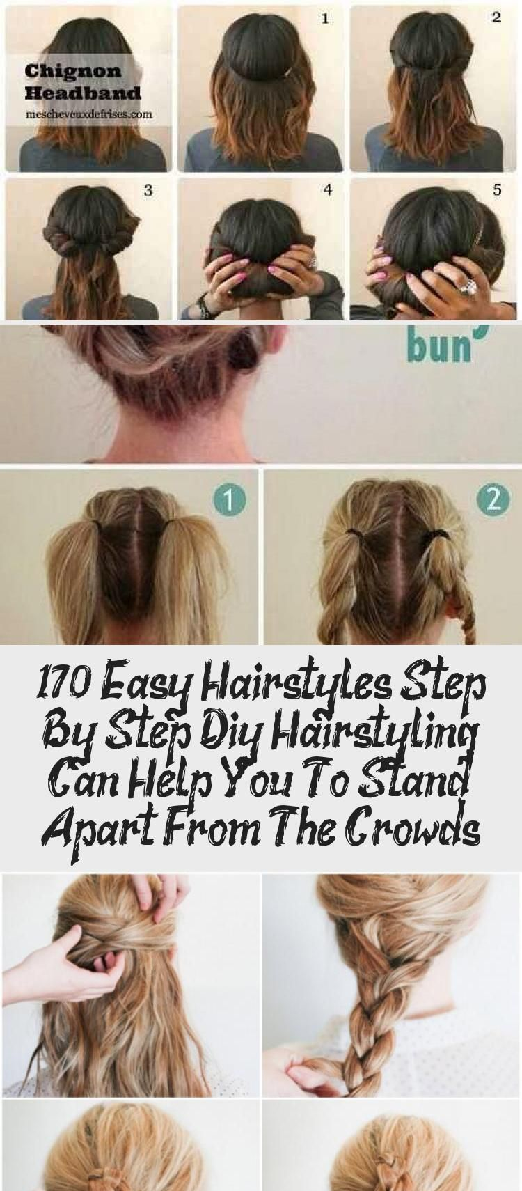 170 Easy Hairstyles Step By Step Diy Hair Styling Can Help You To Stand Apart From The Crowds Page 83 My In 2020 Easy Hairstyles Diy Hairstyles Easy Diy Hairstyles