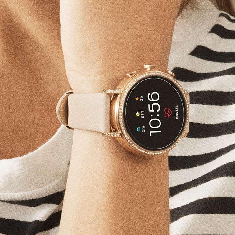 Damen Smartwatch Q Venture Hr 4 Generation Leder Rosa Klassisches Design Moderne Technik Diese Watches Women Fashion Smart Watch Smartwatch Features