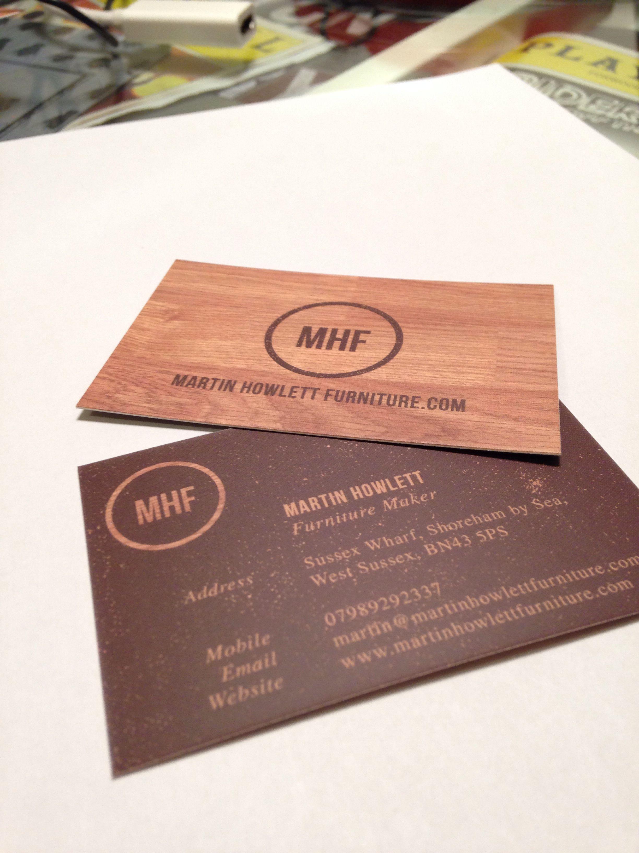 Martin Howlett\'s Furniture Maker Business Cards | Mario Picariello ...