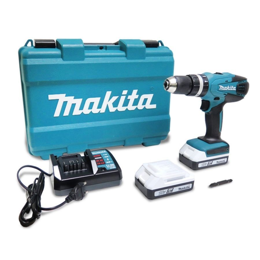makita hp457dwe 18v 1 5ah cordless hammer drill driver full set 220v charger cordless hammer. Black Bedroom Furniture Sets. Home Design Ideas