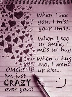 I Am Crazy About You Missing You Love Quotes Love Yourself Quotes Love Quotes With Images
