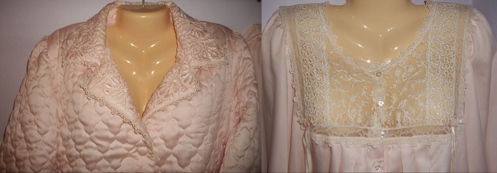 SOLD! COUTURE CHRISTIAN DIOR QUILTED ROBE & SATIN NIGHTGOWN PARIS ... : quilted satin robe - Adamdwight.com