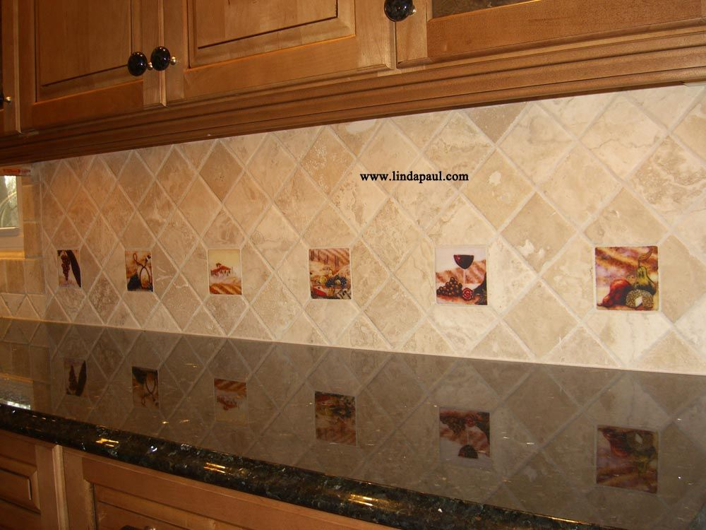 Decorative Tile Backsplash Kitchen Tuscan Backsplash Tile Mural Of Window And Italian Landscape With