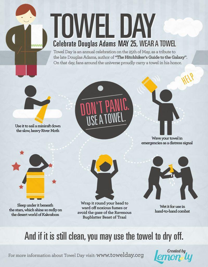 Towel Day   Douglas adams, Infografik