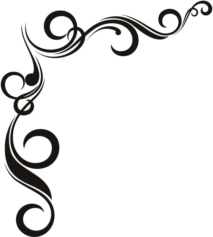 Wall Design Clipart : Border designs for wall twisted corner