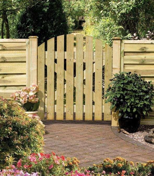 Porte de jardin en bois id es et instructions de montage jardin d co jardins en bois porte - Portillon jardin bois ...
