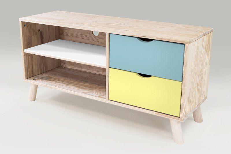 Meuble Tv Style Scandinave Bleu Pastel Jaune Blanc Furniture Home Decor Home