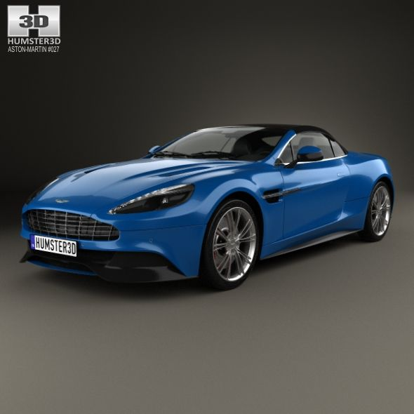 Aston Martin Vanquish Volante 2013. Fully Editable And