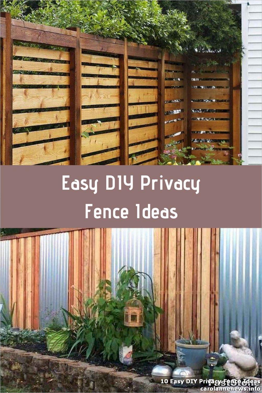 10 Easy Diy Privacy Fence Ideas Diy Privacy Fence Privacy Fences Privacy Fence