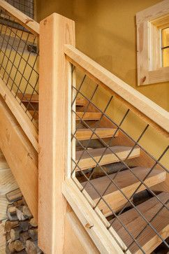 Hog Wire Deck Fencing Staircase Design Ideas Pictures