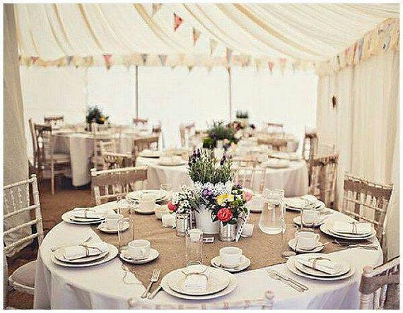 24x24\' Burlap table square/wedding table topper/wedding decor ...