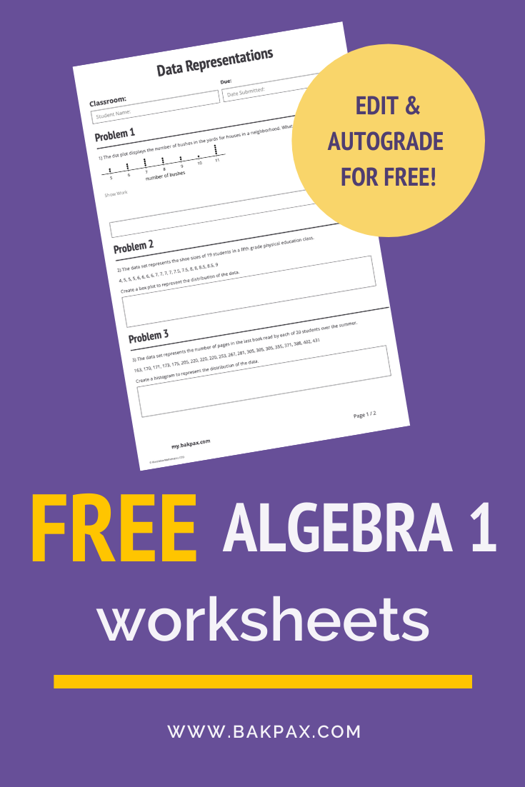 Free Algebra 1 Worksheets Free Algebra Algebra Worksheets Algebra [ 1102 x 735 Pixel ]