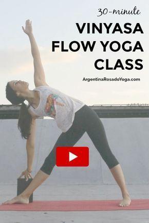 30minute vinyasa flow class  argentina rosado yoga