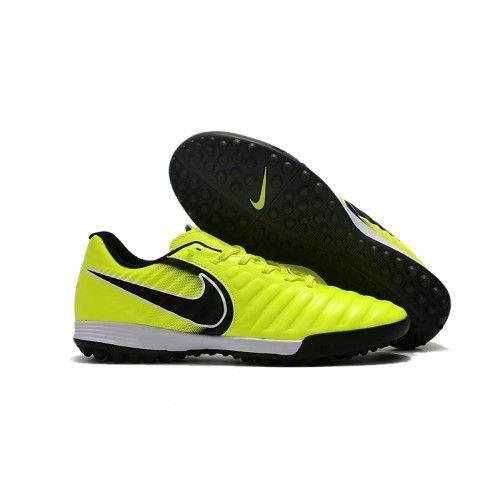 sale retailer 88e78 32779 Nike TIEMPO LEGEND VII TF Botas de futbol Verde Negro Blanco