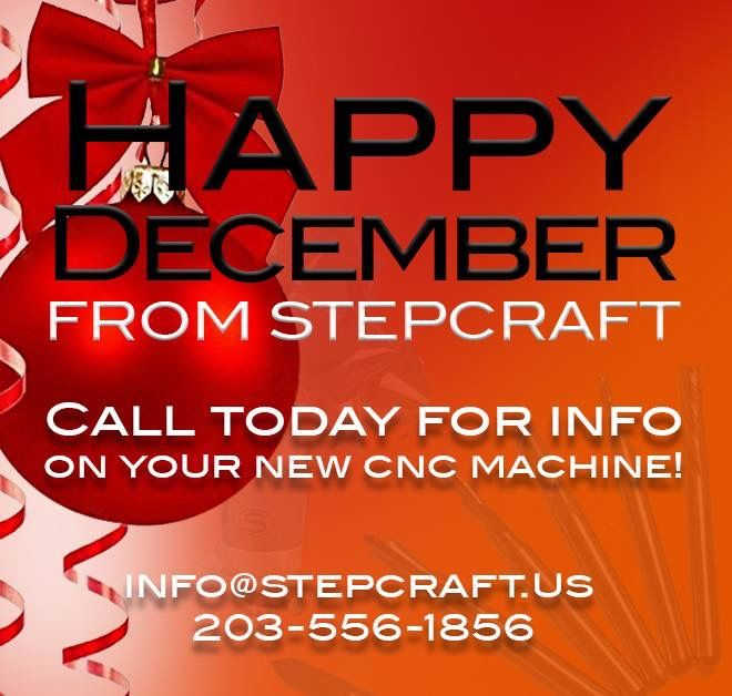 Happy DECEMBER to our friends and family From STEPCRAFT USA! If you're researching  STEPCRAFT  CNC and have questions, please call us at 203-556-1856 or info@stepcraft.us. Have a great December!  stepcraftcnc  cncrouter  thinkitmakeit  makers  makerspace  create  diy   makerslife  makersgonnamake  crafterslife  woodenart  woodensigns  cncsigns