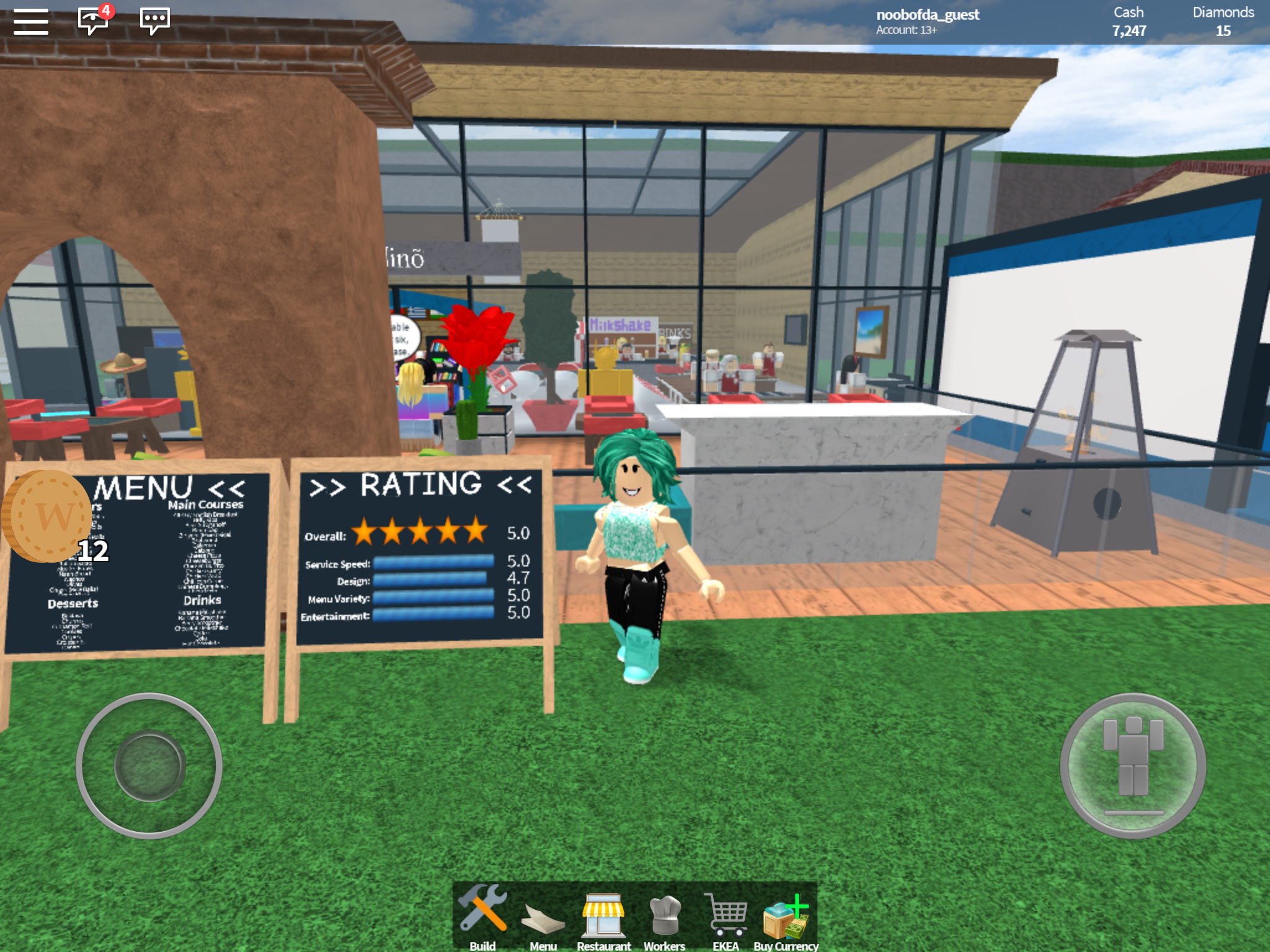 Me in Restaurant Tycoon 5 stars 💯 | Roblox | Basketball