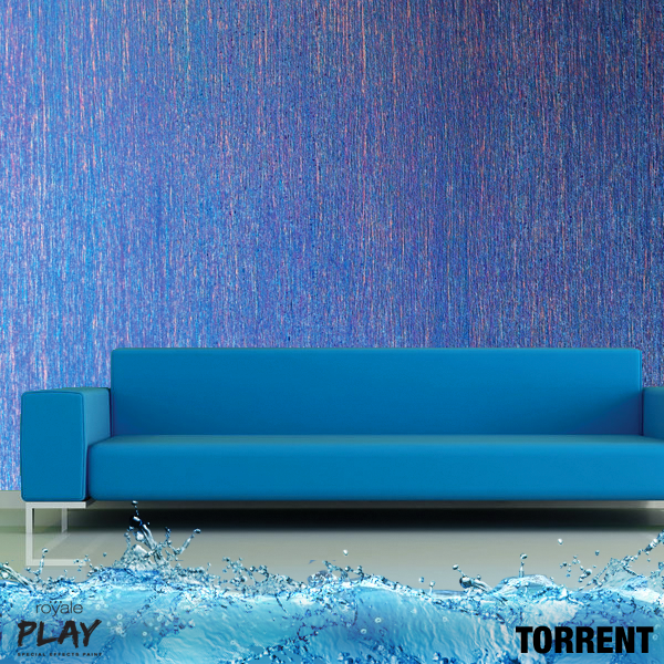 Dont you love the pitter patter of monsoon our torrent effect from the royale play neu range will add colour and movement to your walls and your life