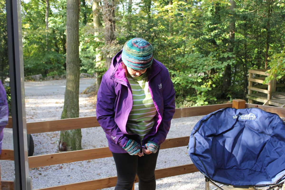 Getting ready for an Autumn Hike wearing Karrimor jacket and boots and Sherpa  hat and gloves e51d33cdf3