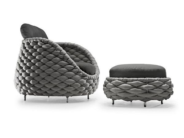 Rapunzel Chair and Pouf Collection by Kenneth Cobonpue - http ...