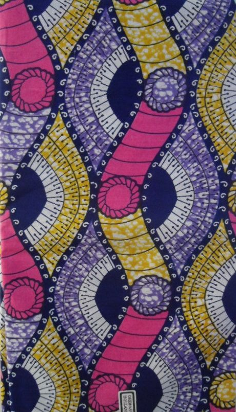 African Print Fabric sold by the yard by Ktextile19 on Etsy, £4.00  Estampa. Etnico. Geometrico