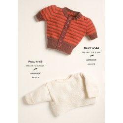 Photo of Model cardigan CB14-44 – Free knitting pattern