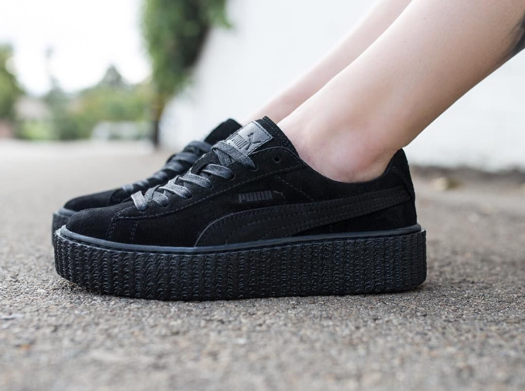 859ac697bcf3ea Puma x Fenty By Rihanna Women s Suede Creepers - Satin in black releases in  store at BAIT Melrose Seattle Portland San Diego San Francisco and Diamond  Bar ...
