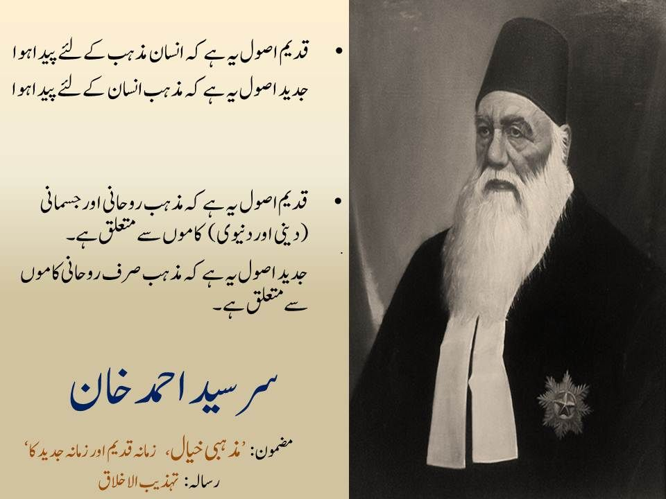 Sir Syed One Of The Founding Fathers Of Pakistan On Religion