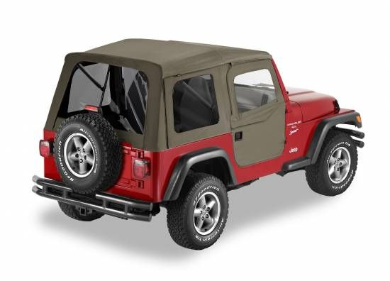 Bestop Bestop Supertop W Tinted Windows And 2 Piece Soft Upper Doors For 97 06 Jeep Wrangler Tj Khaki Diamond 2006 Jeep Wrangler Jeep Wrangler 2002 Jeep Wrangler