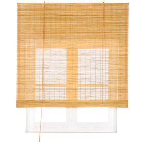 Bambú Inspire Gris Dorado Curtains Shades Roman Shades
