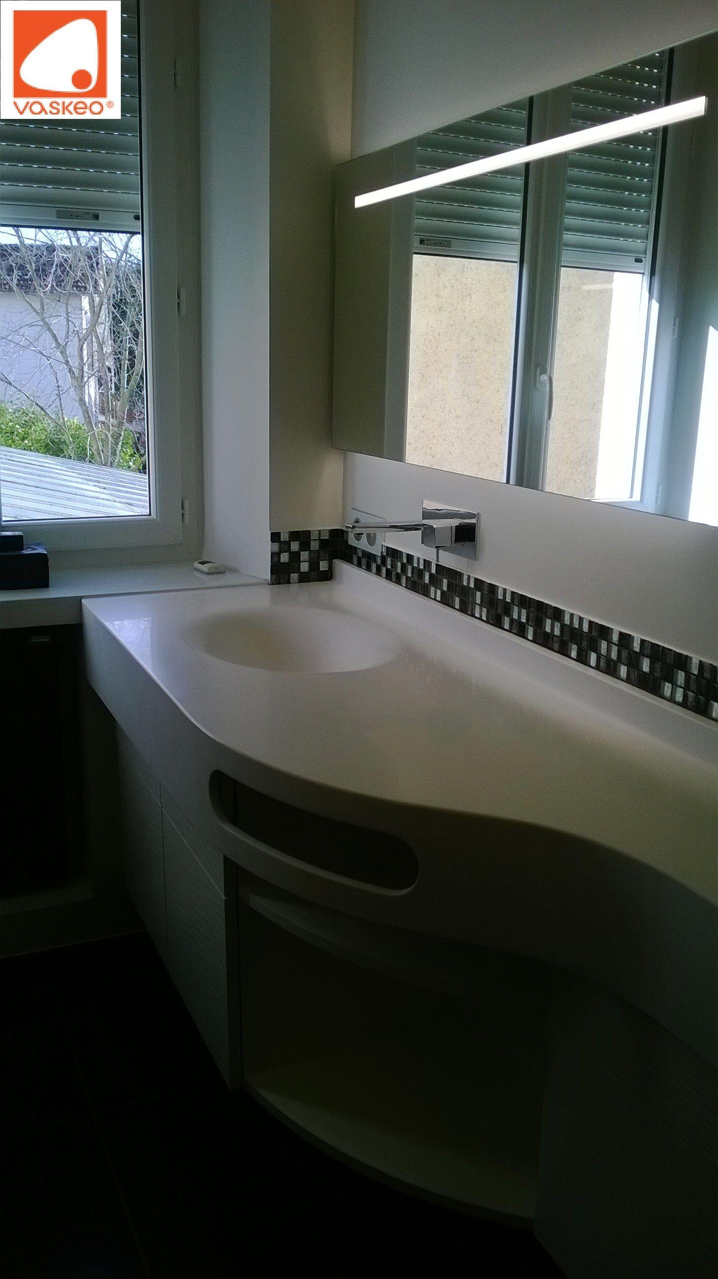 Lavabo Pour Petit Espace lavabo de laboratoire avec dosseret, découpe arrondi et