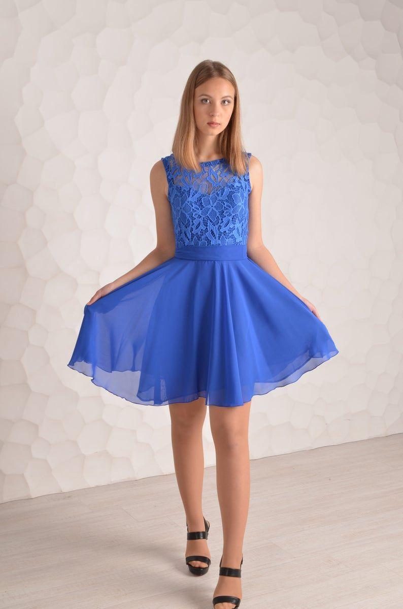 Royal blue Prom Kleid blaue Spitze Homecoming Kleid blau ...