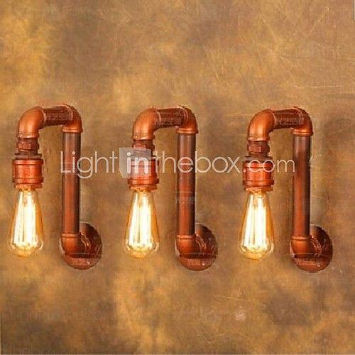 pueblo americano pared industrial enciende lámparas de tuberías de agua retro creativas 220--240v - EUR €74.96