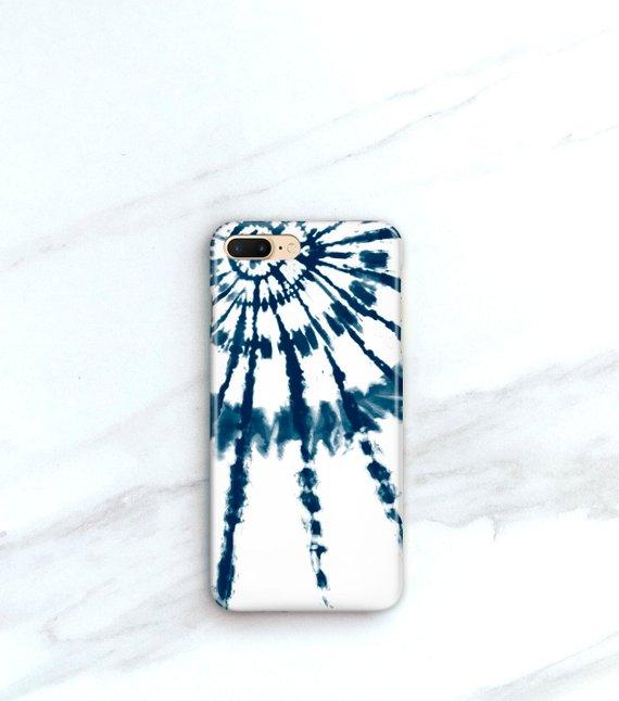 reputable site a0a6e 4f3f7 iPhone Case Boho Phone Case Indigo Tie Dye Burst iPhone 8, Plus Case ...