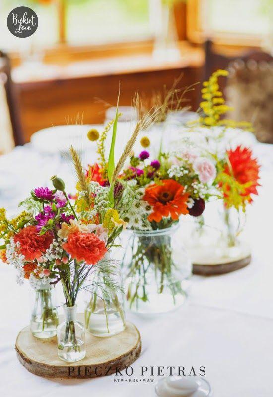 Polne Kwiaty Na Slubie Wedding Decorations Wedding Table Decorations