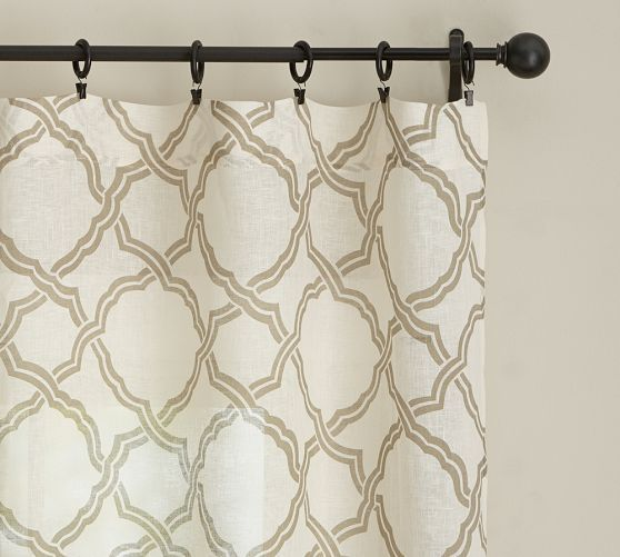 Kendra Trellis Sheer Curtain Sliding Glass Door Sheer Drapes
