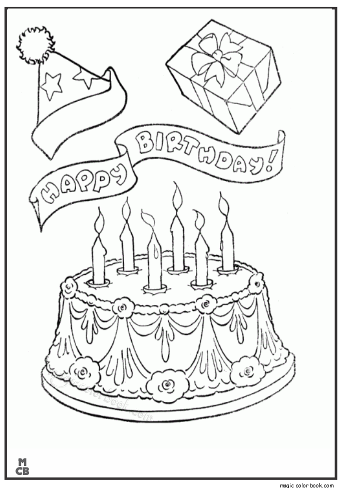 Pin på Birthday Coloring pages