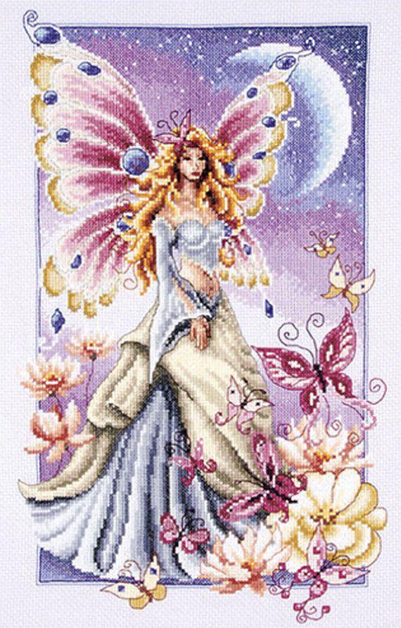 Butterfly Fairy Cross Stitch Pattern***L@@K***  ~~  I SEND WORLD-WIDE ~~