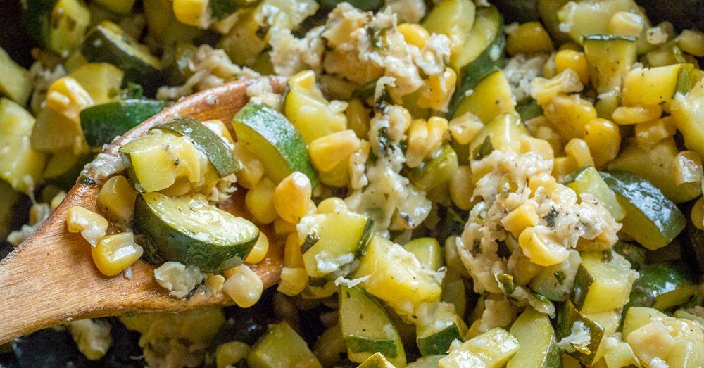 Parmesan Zucchini And Corn Recipe In 2020 Parmesan Zucchini Zucchini Stuffed Peppers