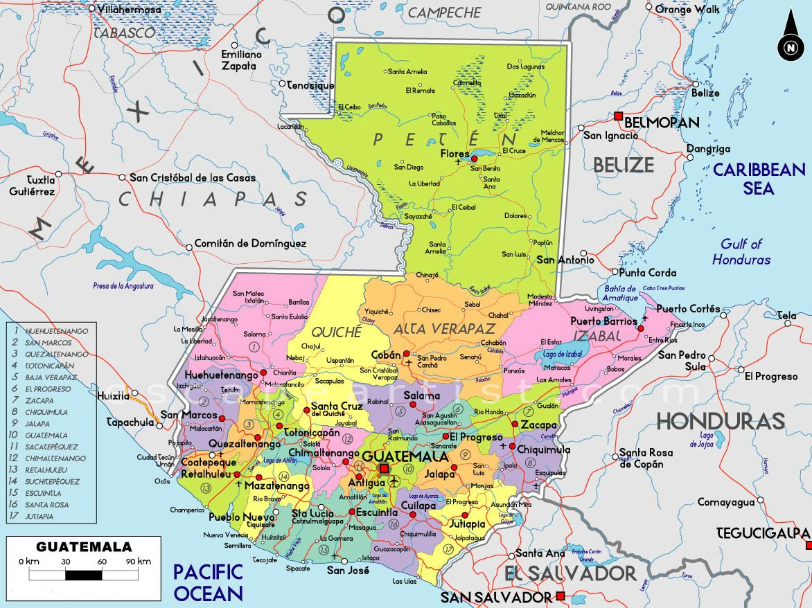 Mapa Guatemalteco Guatemala Pinterest - Political map of guatemala