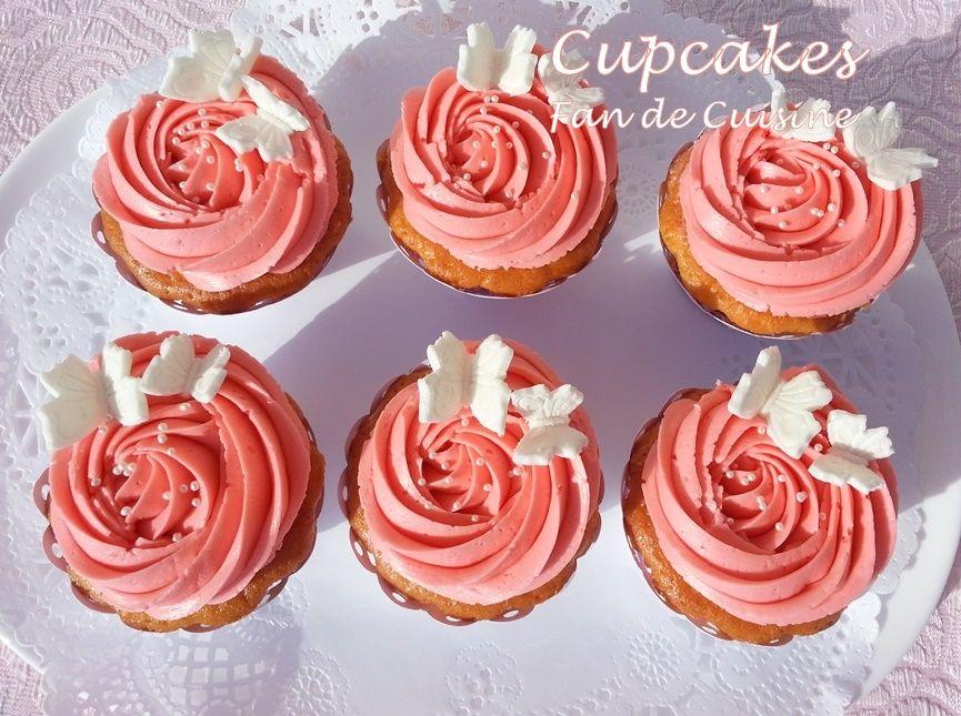 Cupacakes/crème au beurre à la fraise