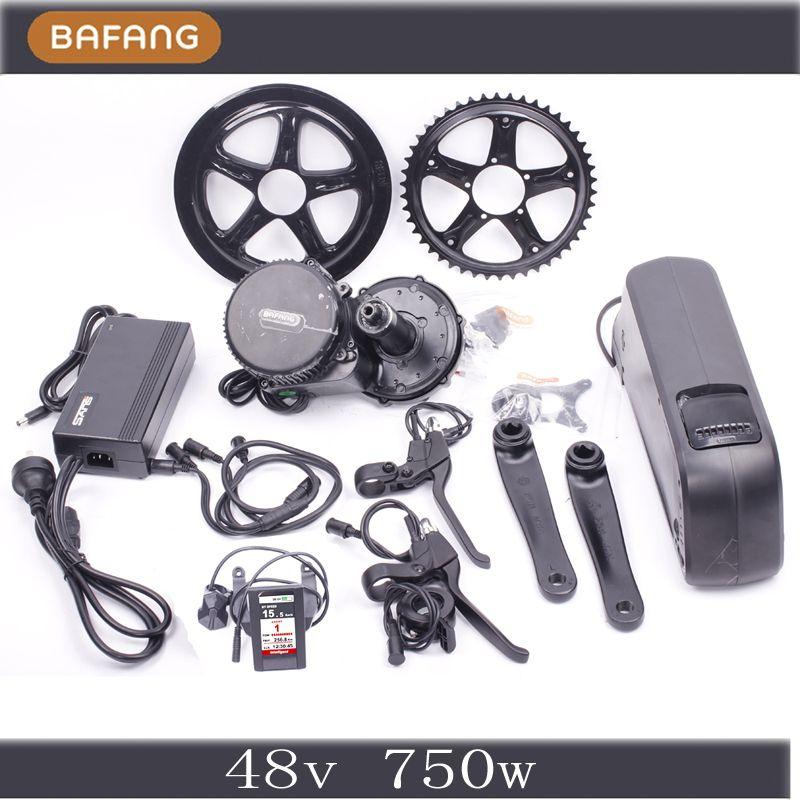 48 V 750 W Bafang Pertengahan Bermotor Kit Desain Terbaru Bafang