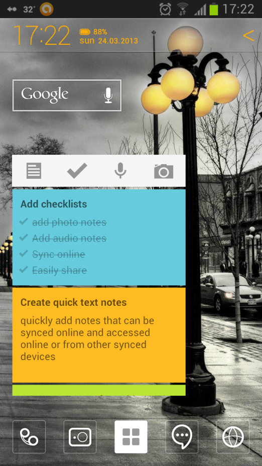 Google Keep – A Note Taking Android App From Google