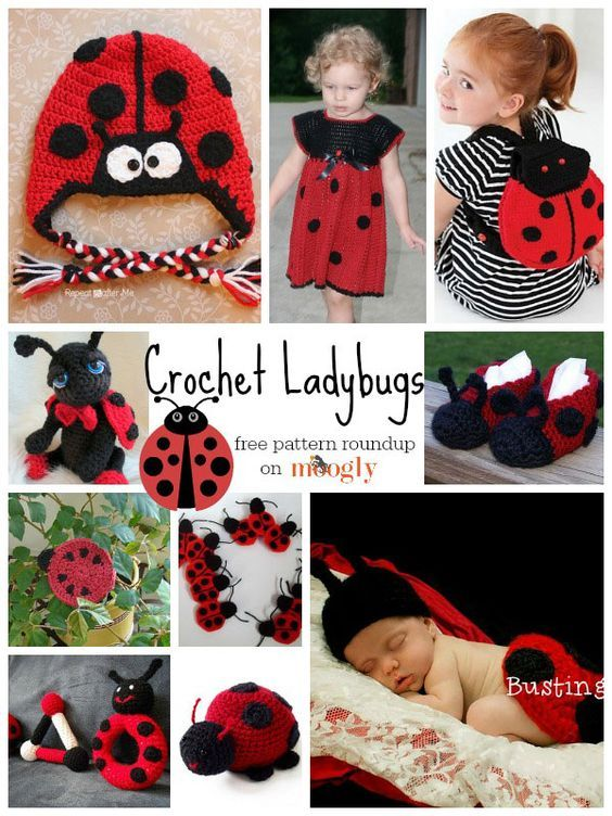 Lucky ladybugs! Get 10 free #crochet ladybug patterns in this roundup from mooglyblog.com: