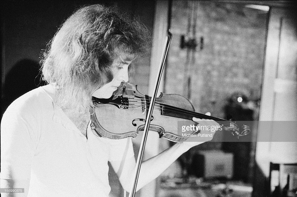 English violinist David Cross of progressive rock band King Crimson