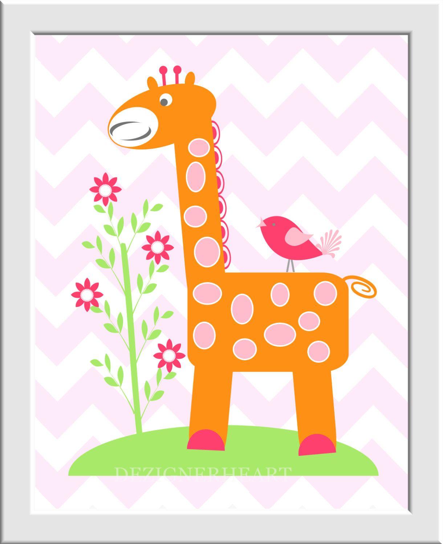 https://www.etsy.com/es/listing/207238987/baby-girl-nursery-art-pink-orange-green?ref=related-2