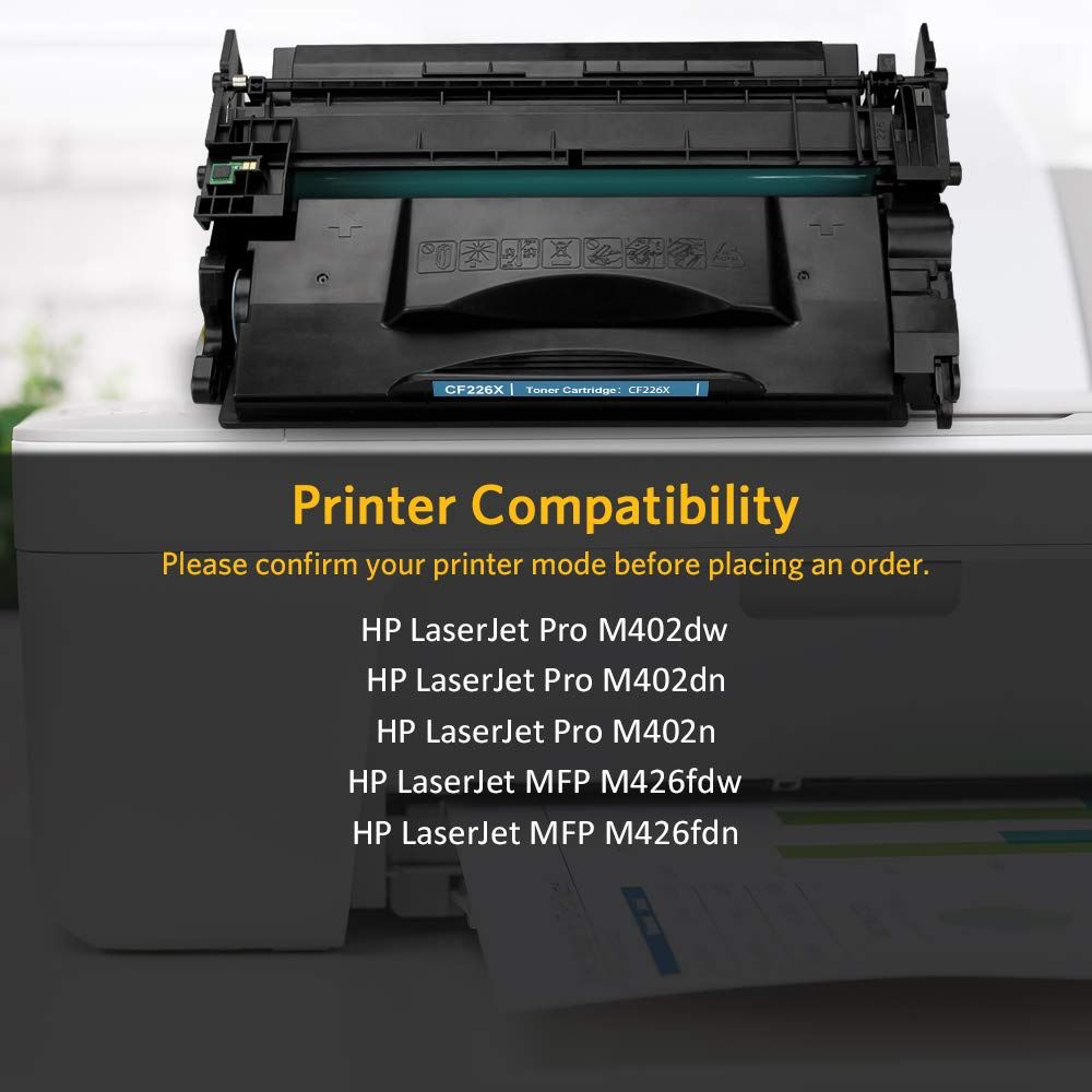 V4ink Compatible Toner Cartridge Replacement For Hp Cf226x 26x Cf226a 26a Black 2 Pack For Use In Hp Laserjet Pro M402 M40 Toner Cartridge Cartridges Toner