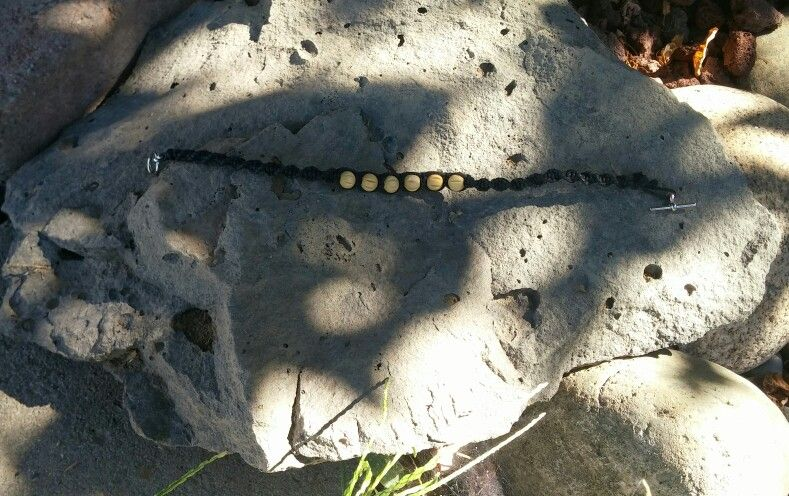 Linen cord anklet